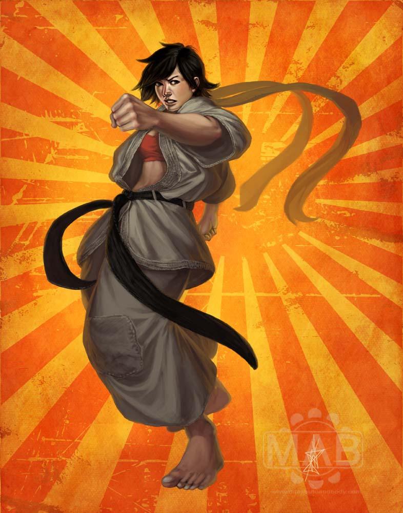 Lilibeth Ambershard Makoto-Street-Fighter-Fan-Art-by-kuroitora