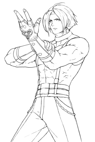 Adelheid Bernstein KOF XIII Win Pose Lineart Unused