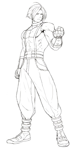 Adelheid King of Fighters Unused Lineart