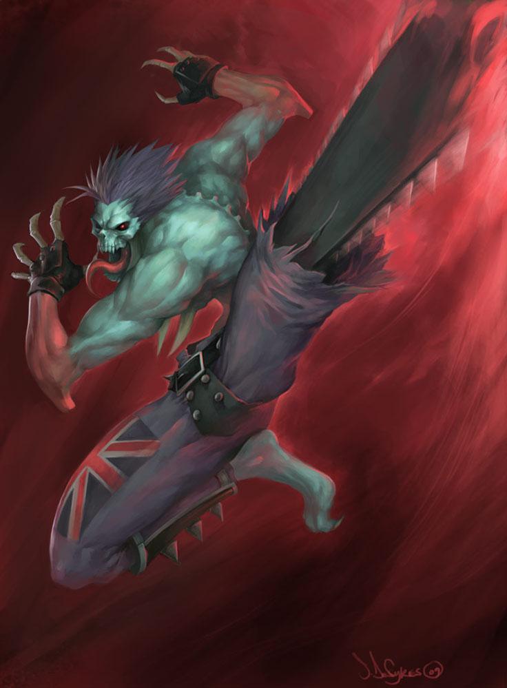 Lord Raptor Darkstalkers Art by Steven De Sykes