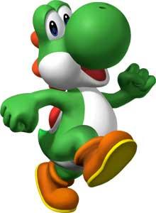 Yoshi New Mario Bros. DS 2006 Art