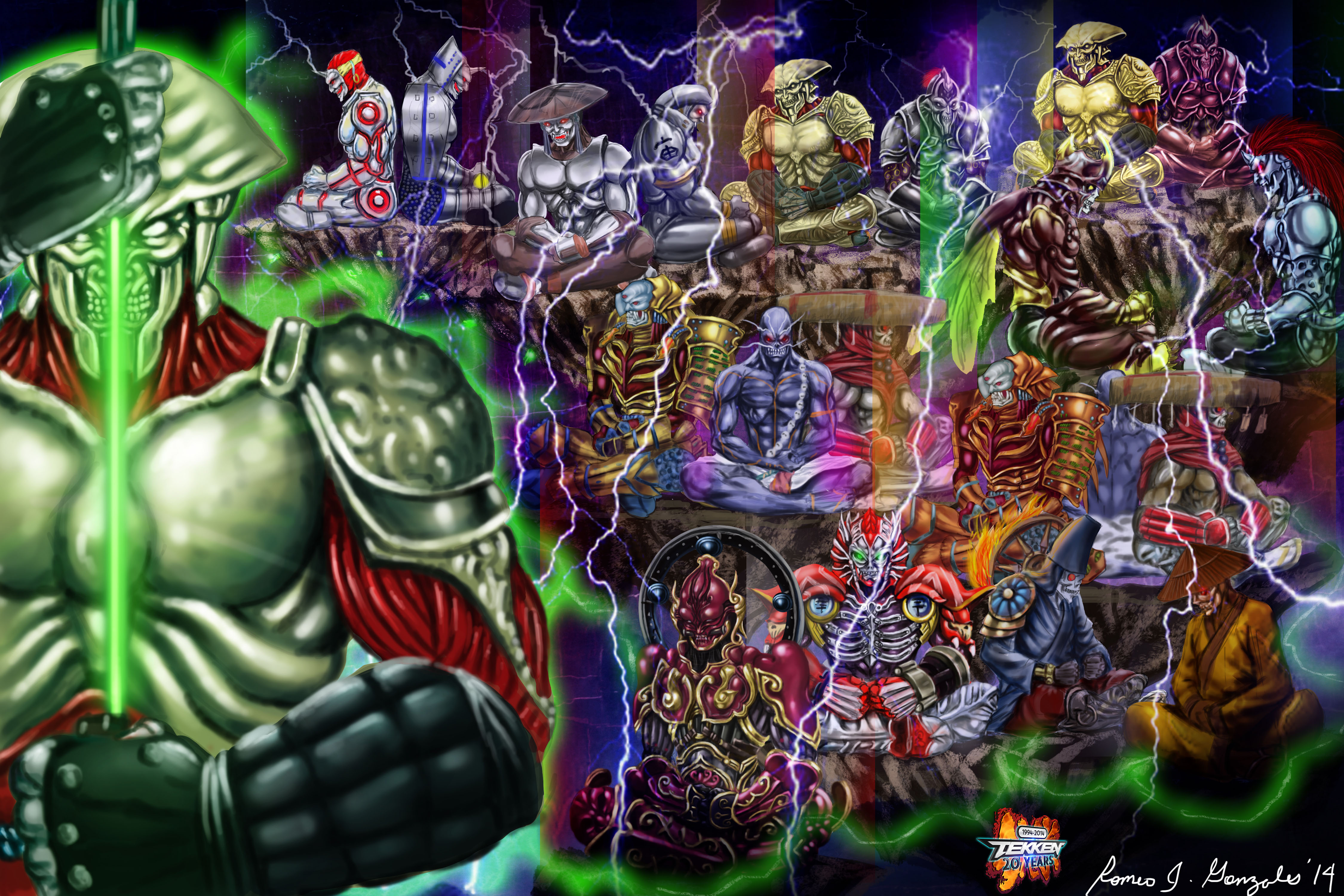 Yoshimitsu the Evolution in Tekken Game Art HQ Tekken Anniversary Tribute