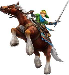 Epona and Link Hyrule Warriors Render Art