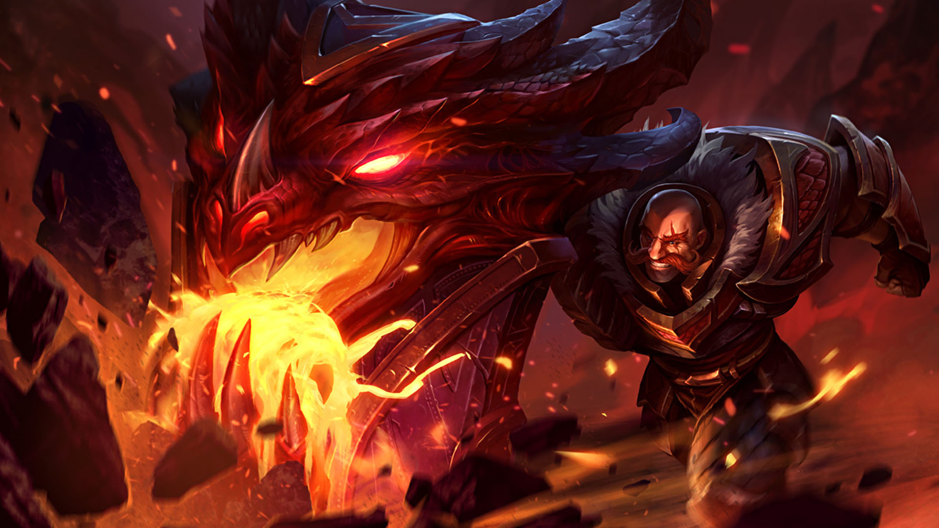 Braum Dragonslayer Skin Splash Art