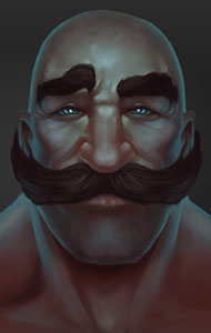 Braum The Freljord LOL Official Portrait Art
