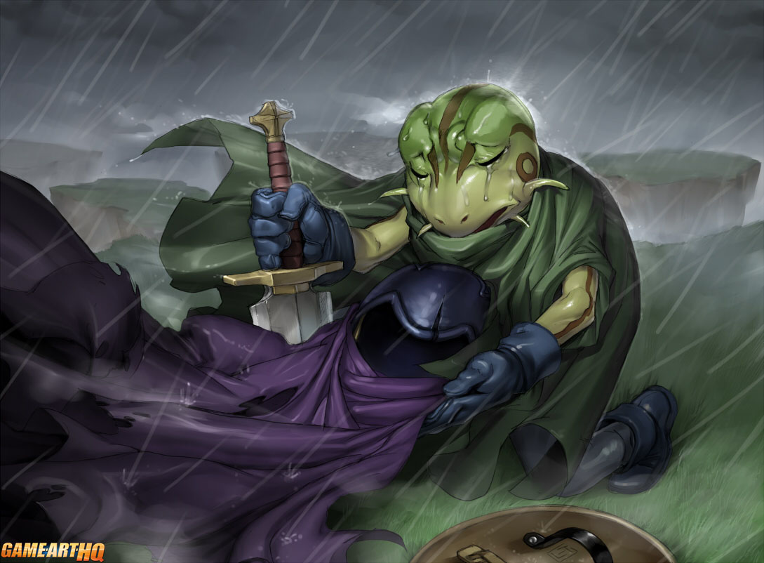 Glenn the Frog from Chrono Trigger by Kenneth Rafael Perry