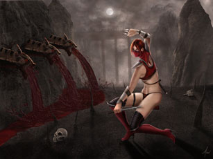 Skarlet Mortal Kombat Wallpaper Art by Asai Balboa
